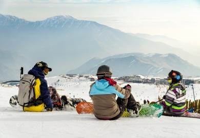 Encuesta Andes Santiago - a,igos en la nieve